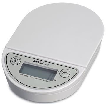 Maul postweegschaal MAULoval, weegt tot 2 kg, gewichtsinterval van 1 gram