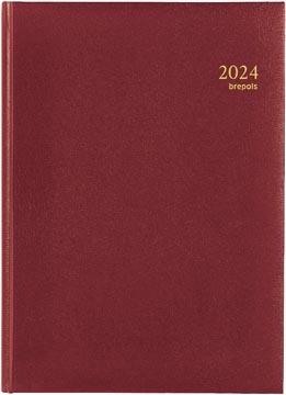 Brepols agenda Omega Lima 6-talig, bordeaux, 2022