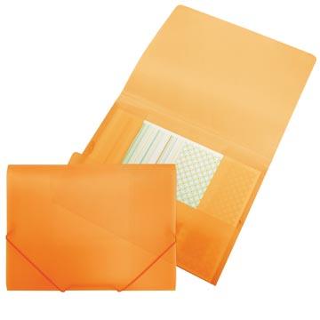 Beautone elastomap met kleppen, ft A4, oranje