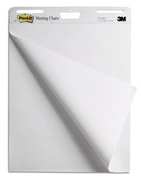 Post-it meeting chart, ft 63,5 x 77,5 cm, blanco, 30 vel, pak van 2 blokken