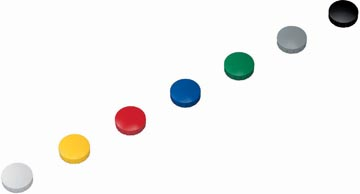 Maul magneet MAULsolid, diameter 24 x 8 mm, geassorteerde kleuren, doos met 10 stuks