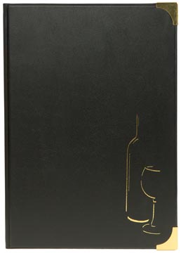 Securit wijnkaart Basic ft A4, zwart