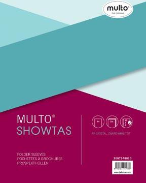 Multo geperforeerde showtas ft A4, 23-gaatsperforatie, glashelder, pak van 10 stuks