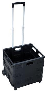 Opvouwbare steekwagen met krat, ft 38 x 40,5 x 42 cm, maximum 35 kg