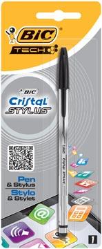 Bic balpen en Stylus Cristal 2 in 1 zwart, blister met 1 stuk