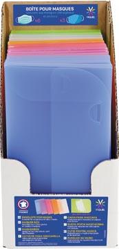 Viquel enveloppen voor beschermende mondmaskers, ft 20 x 10,5 x 0,8 cm, display met 15 stuks