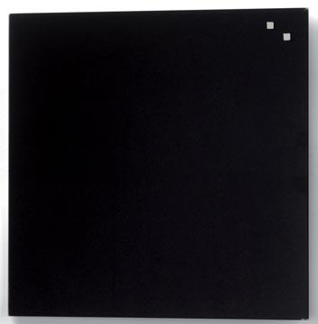Naga magnetisch glasbord, zwart, ft 45 x 45 cm