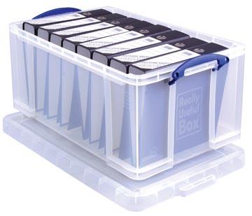 Really Useful Box opbergdoos 64 liter, transparant